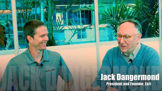 """Jack Dangermond Discusses User Conference Highlights, GIS """"Critical Mass"""" (1 of 4)"""