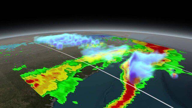 NASA Scanning a Snow Storm