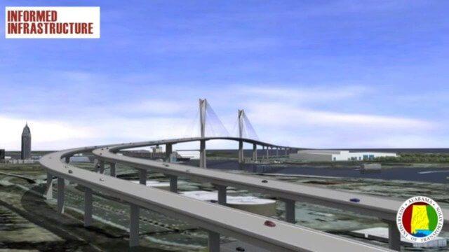 Mobile River Bridge Animation