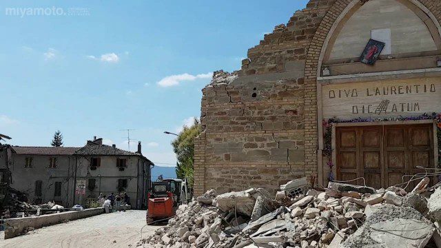 Italian Village Damaged by Earthquake Assessed by Engineers