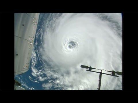 Space Station Orbits Three Hurricanes