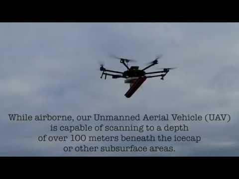 Drone with Ground Penetrating Radar (GPR)